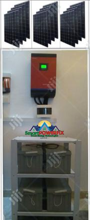 Solar Powered Gennex 5kva Inverter Installation With 4 Batteries | Solar Energy for sale in Lagos State, Ojodu