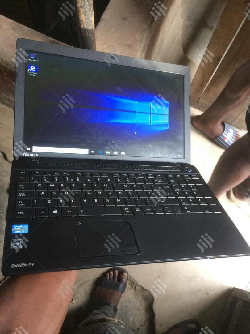 Laptop Toshiba Satellite C850 4GB Intel Core i3 HDD 500GB   Laptops & Computers for sale in Ikeja, Lagos State, Nigeria