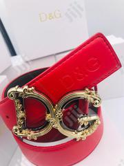Dolce And Gabbana Leather Belt Original 0046 | Clothing Accessories for sale in Lagos State, Surulere