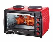 Saisho 50 Liters Electric Over With Double Burners Hot Plate | Kitchen Appliances for sale in Lagos State, Ikeja