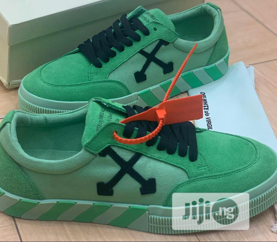 Off White Vulc Sneaker Green | Shoes for sale in Ikeja, Lagos State, Nigeria