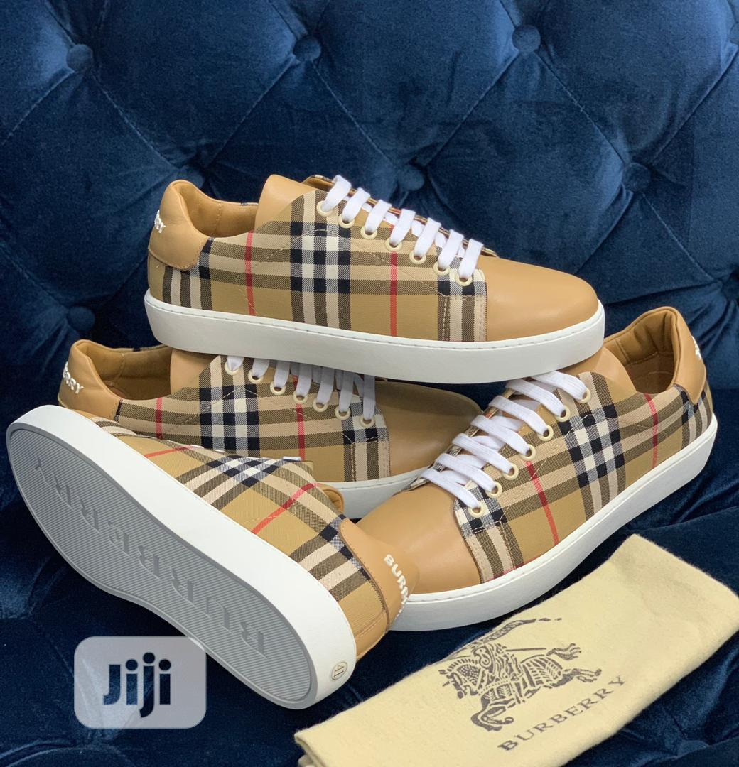 Burberry Canvas Sneaker Available as Seen Order Yours Now | Shoes for sale in Lagos Island, Lagos State, Nigeria