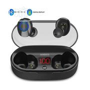 Anbes LED Display Mini True Bluetooth Earbuds | Headphones for sale in Lagos State, Ikeja