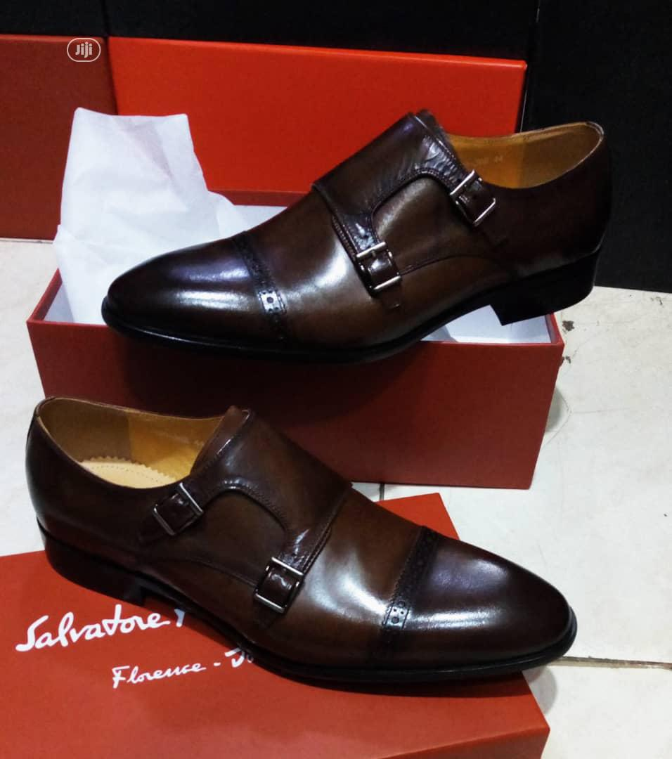 Quality Salvador Ferragamo Men's Pure Leather Shoes | Shoes for sale in Lagos Island, Lagos State, Nigeria
