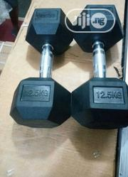 Pair of Hex 25kg Commercial Dumbbell(12.5kg Each)   Sports Equipment for sale in Abuja (FCT) State, Central Business Dis