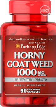 Puritan's Pride Horny Goat Weed 1000 Mg - 90 Caps Libido Booster | Sexual Wellness for sale in Lagos State, Ipaja