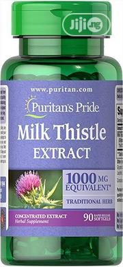 Puritans Pride Milk Thistle 4:1 Extract 1000 Mg (Silymarin), 90 Count | Vitamins & Supplements for sale in Lagos State, Lekki Phase 1