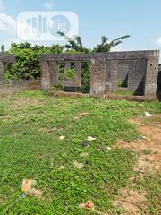 Half Plot of Dry Land With Uncompleted Building at Okearo, Matogun | Land & Plots For Sale for sale in Lagos State, Ifako-Ijaiye
