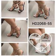 Velcro Strap Glass Heel Sandal | Shoes for sale in Lagos State, Ikoyi
