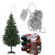 6ft Christmas Tree With Multicolored Lights Balls for Decoration   Home Accessories for sale in Lagos State, Ojo