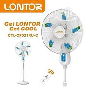 """Lontor Rechargeable Stand Fan 18"""" Inchs With Solar Port 