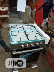 Brand New Midea Gas Cooker 4burners 60 By 60 Oven Black Color Warranty | Kitchen Appliances for sale in Lagos State, Ojo