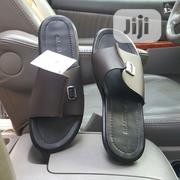Brandjou Coffee Brown Stitched Cover Slippers | Shoes for sale in Lagos State, Ikeja