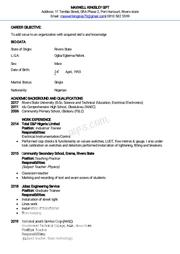 Security CV   Security CVs for sale in Rivers State, Ogba/Egbema/Ndoni