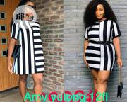 Amy Long Stripe Short Dress | Clothing for sale in Lagos State, Ikeja