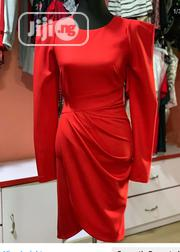 Red Exaggerated Sleeves Dress | Clothing for sale in Lagos State