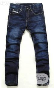 Plain Blue Smart Fit Jeans For Men | Clothing for sale in Lagos State, Ikeja