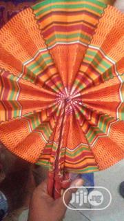 Ankara/Leather Handfans | Clothing Accessories for sale in Lagos State, Ojota