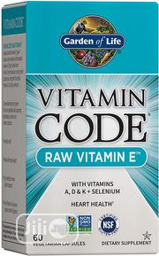 Garden of Life Raw Vitamin E 250IU With A, D, K, Selenium Probiotics | Vitamins & Supplements for sale in Lagos State, Lekki Phase 1