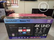"Sharp 55"" 4K Uhd Hdr LED Roku Smart TV (55lbu591c) 