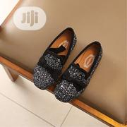 Glitter Black Flat Moccasin Shoe for Girls   Children's Shoes for sale in Ondo State, Akure