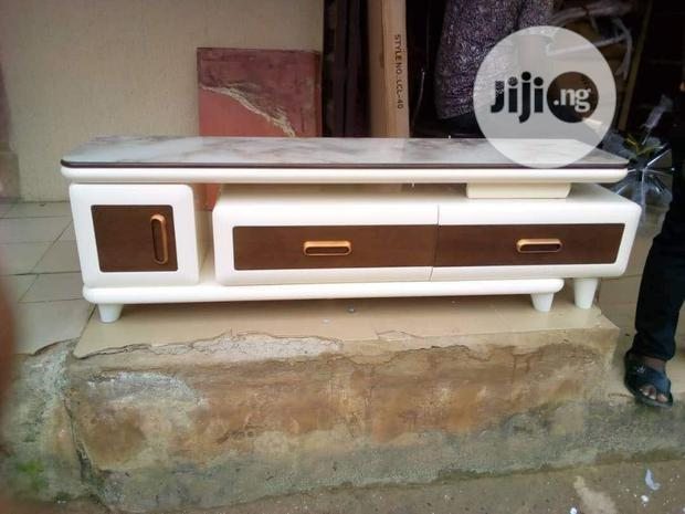 Classic Double Drawer Tv Stand With Cupboard