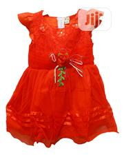 Girls Short Sleeve Party Dress-red,Blue,Yellow&Pink | Children's Clothing for sale in Lagos State, Ojota