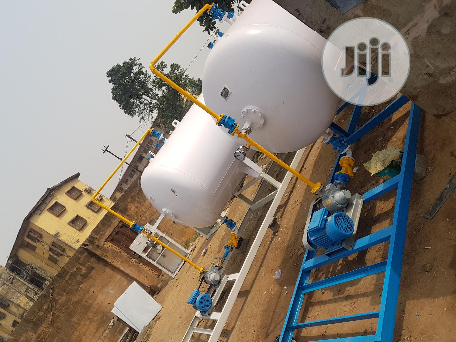 Installation Of 2.5tons LPG Tank With W-pump And Auto Dispenser