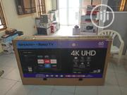 "Sharp 65"" 4K Uhd Hdr LED Roku Smart TV 