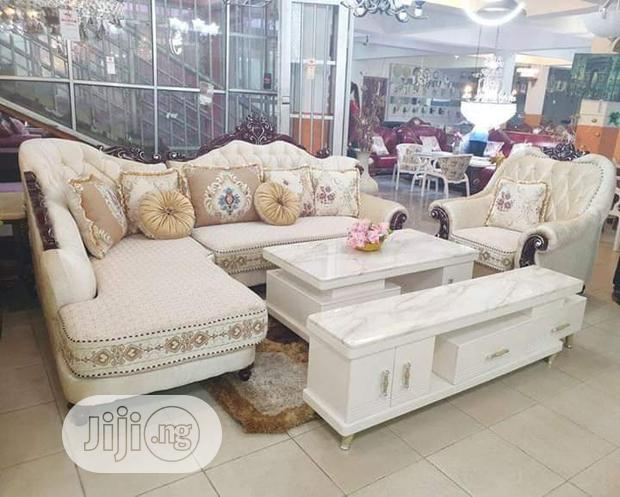 Royal L Shape Chair With Center Table and TV Stand