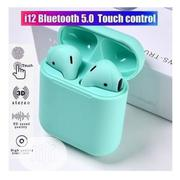 I12 Twin Mini Wireless Green Colour | Headphones for sale in Lagos State, Ikeja