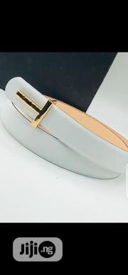 White Leather Belt Original Quality | Clothing Accessories for sale in Lagos State, Surulere