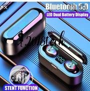 F9 Bluetooth 5.0 TWS Earbud Headset With Led Display | Headphones for sale in Lagos State, Ikeja