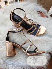 New Classic Female Leather Heel Sandals   Shoes for sale in Lagos State, Victoria Island