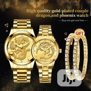 Fngeen 4 In 1 FNGEEN Waterproof Dragon Couple Wrist Watch Bracelets | Jewelry for sale in Lagos State, Ikeja