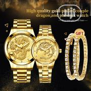 Couple Dragon Phoenix 4 In 1 FNGEEN Luxury Waterproof Luminous Watches   Watches for sale in Lagos State, Lagos Island