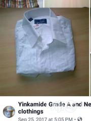 UK FAIRLY USED Pure White Men Shirts Available at 35K for 100 Pieces | Clothing for sale in Osun State, Egbedore