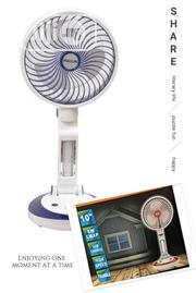 """10"""" Rechargeable Fan With Led Light 