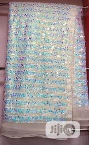 Diamond Stone White Net Lace | Clothing for sale in Lagos State, Ojo