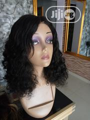 Curly Human Hair Wig With Closure | Hair Beauty for sale in Lagos State, Ikeja