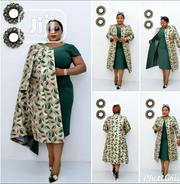 New Classic Lady Green Turkey Fitted Gown With Jacket | Clothing for sale in Lagos State, Lagos Island