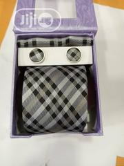 Set Of Checked Designers Tie With Cufflinks | Clothing Accessories for sale in Lagos State, Lagos Island