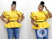 New Female Turkey Yellow Top With Belt | Clothing for sale in Lagos State, Lagos Island