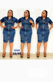 New Lady Turkey Blue Front Zip Dress | Clothing for sale in Lagos State, Lagos Island