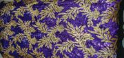 Gold Pupple Flower Sample Lace | Clothing for sale in Lagos State, Ojo