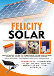 Felicity Solar Power Solution | Solar Energy for sale in Edo State, Benin City