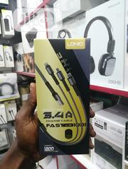 3 In 1 Fast Charging Cable Output Max 3.4A - Length 1.2m   Accessories for Mobile Phones & Tablets for sale in Lagos State, Ikeja