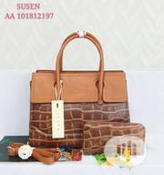 Susen Female Brown Leather Shoulder Handbag | Bags for sale in Lagos State, Amuwo-Odofin