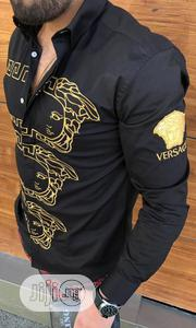 New Original Man Versace Black Collar Shirt | Clothing for sale in Lagos State, Lagos Island