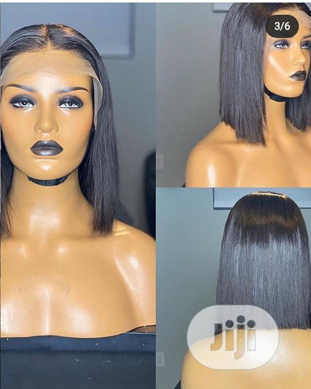 Archive: Shoulder Length Black Wig With Full Lace Frontal